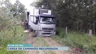 Carga de R$ 1,5 mi é recuperada após roubo em Pilar do Sul