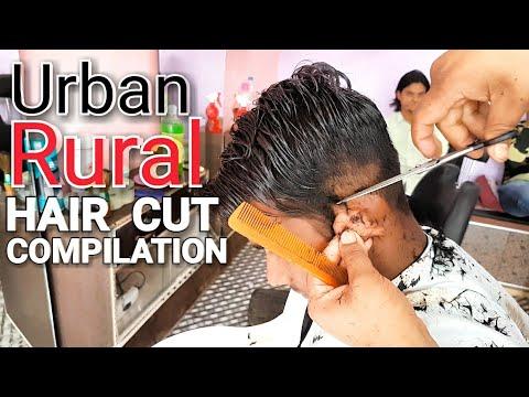 Hair cutting - Urban-Rural hair cut with beard trimm compilation