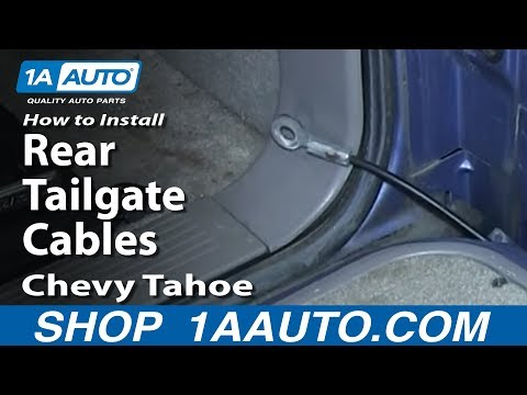 How To Install Replace Rear Tailgate Cables 1994-99 Chevy Tahoe Suburban GMC Yukon