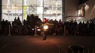 Halloween Fire Hula Hoop Performance
