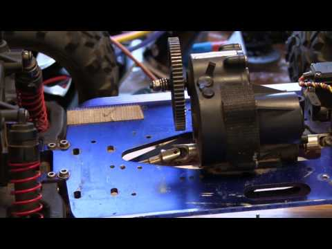 T-Maxx Conversion Mounting your Motor and setting the Gear lash