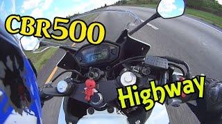 9. Honda CBR500R On the highway