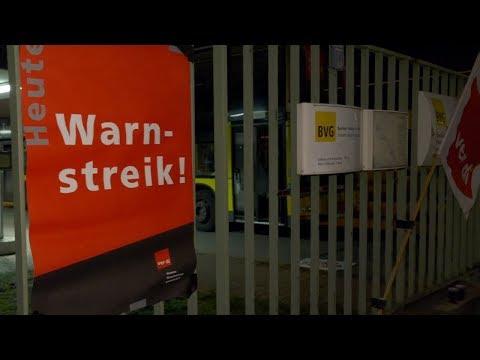 Berlin: Warnstreik der BVG legt Berliner Nahverkehr lah ...