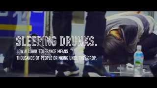 【みなさんもご注意を!!】酔いつぶた人をこっそり広告にするキャンペーン