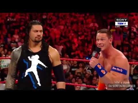 Wwe Raw 22 August Samoa Joe Attack John Cena And Roman Reigns On modaynight Raw