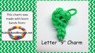 Number 9 Loom Band Charm
