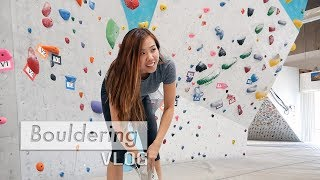 Slab climbing and a dyno by Bouldering Vlog