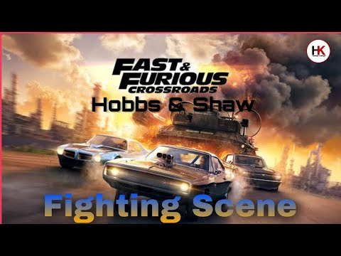 Fast and Furious Hobbs and Shaw | Access Denied (Retinal Scanner)Rock fight scene | attitude song |