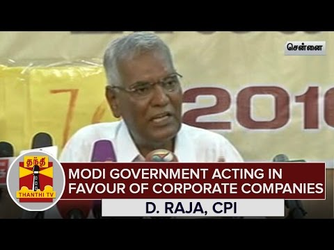 Modi-Government-acting-in-favour-Corporate-Companies--D-Raja-CPI--Thanthi-TV