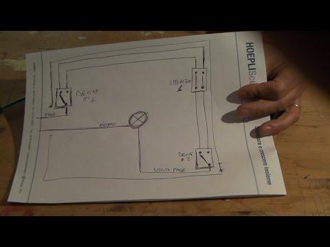 Come collegare una lampadina a tre punti di accensione diversi con - Punto luce interrotto ...
