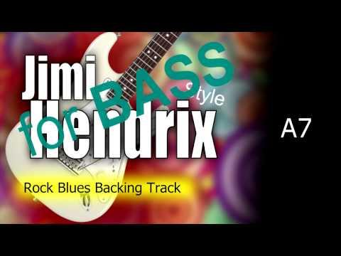 Rock Blues Jimi Hendrix Style BASS Backing Track 84 Bpm Highest Quality