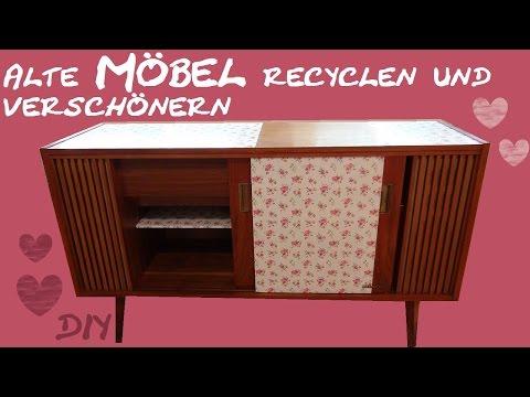 DIY Möbel – Ein alter Schrank bekommt einen neuen Look/ Zimmer verschönern