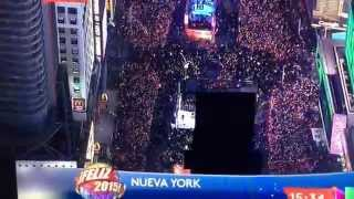 New Year's Eve 2015-Times Square Ball Drop -Bienvenida al Nuevo Año en NY.