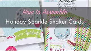 How To assemble CTMH Holiday Sparkle Shaker Cards