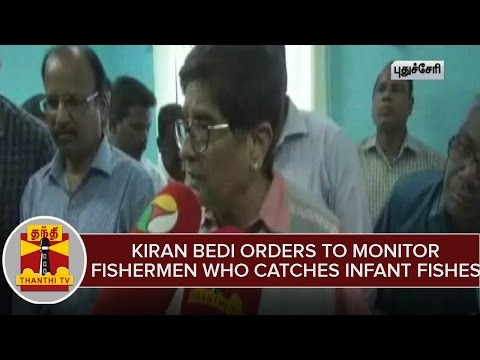 Governor-Kiran-Bedi-Orders-To-Monitor-Fishermen-Who-Catches-Infant-Fishes