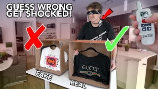 GUESS REAL VS FAKE DESIGNER CLOTHES OR GET SHOCKED!
