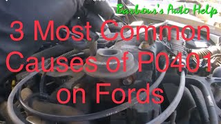 Three Most Common Causes of P0401 on Fords