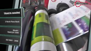 3 Renk Flexo Baskı Makinesi