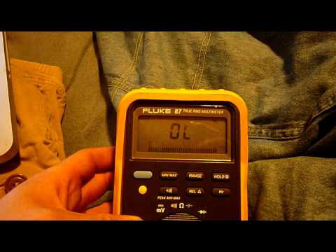 Fluke 87 Multimeter Problem...How can I solve the blinking?
