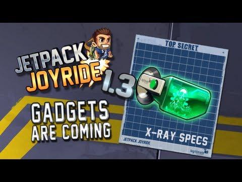"Jetpack Joyride Gadgets Update ""X-Ray Specs"""