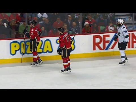 Video: Tkachuk steals Burns' stick, refuses to give it back