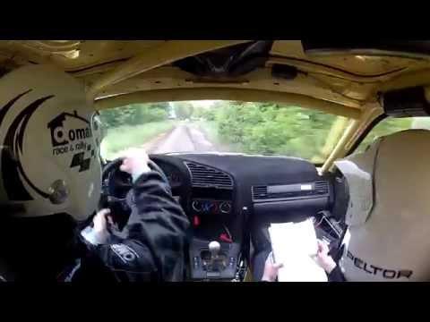 Rallye Ceske Stredehori SS3 Slickiem po mokrej kostce :) Artur Sękowski / Tomasz Borko BMW M3