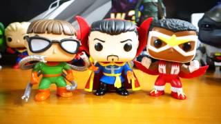 Funko POP! Marvel Comics Doctor Strange, Doctor Octopus and Falcon Figure Unboxing