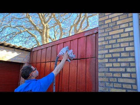 Vi maler garage og hegn på under 20 minutter med Bosch PFS 5000E