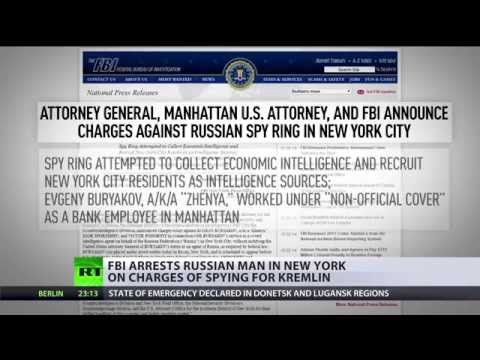 spy - Federal prosecutors in the United States have announced charges against three Russian men who allegedly operated an international spy ring based out of New York City. RT's Aleksey Yaroshevsky...
