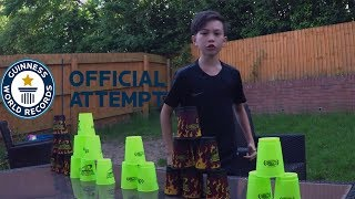 Its a part of the series Garden challenges The Great David R but this time it is an Stacking Challenges Guinness World Records Stacking.Thanks to Engage Sports Media for sending me this amazing staking cups its been so much fun playing with it.Garden ChallengesFun games for kidsfun challengesfun gamesfun youtube challengesfun gamesfun kids