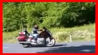 8. Honda Goldwing 1800 Airbag test ride / Motoradtest von 1000PS