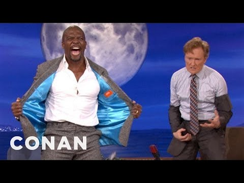 Conan - Terry Crews Makes Conan Pull A Man Boob