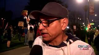 Protestas en Beverly Hills por visita de Trump a Los Ángeles-Noticias 62 - Thumbnail