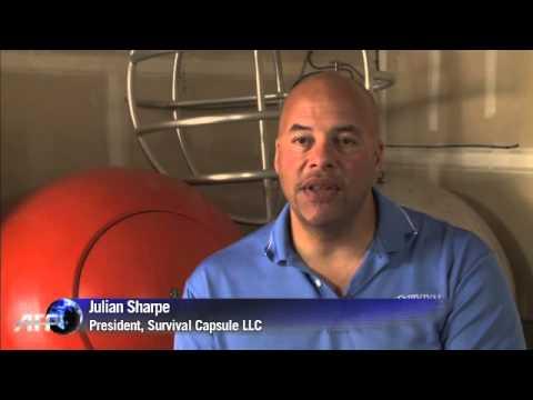 Американска компания създаде спасителна капсула в случай на цунами. 12 септември 2014.