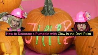 How to decorate a pumpkin with glow in the dark paint