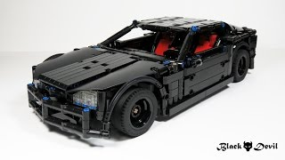 A custom built RC sports car, scaled from a 2009 corvette Instructions available via Rebrickable: https://rebrickable.com/designer/Chade More Images at Flick...