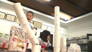 トイレットペーパー工場見学4 ふわふわ3枚重ね Toilet paper factory tour