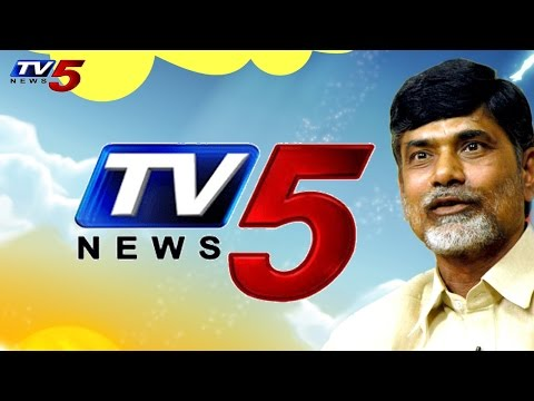 AP CM acknowledges work of TV5 scribe while reporting deadly cyclone storm Hudhud : TV5 News