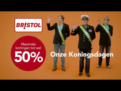 Look a Like Willem Alexander en Maxima in Bristol reclame