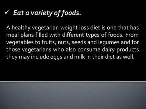 Vegetarian Weight Loss Diet Plan Guidelines
