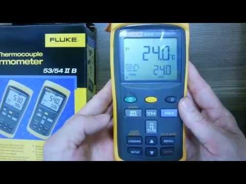 Fluke 54-2B Dual Input Digital Thermometer with Data Logging