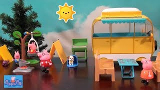 Peppa Pig: Peppa Pig Camping Trip Story with Peppa Pig Happy Family and Friends in NEW Campervan