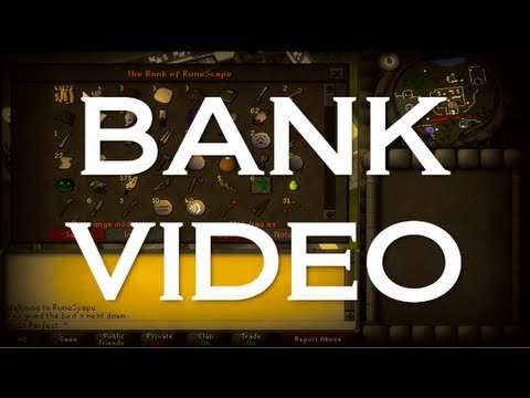funny runescape bank video - Leave a Like for progress :) The speech at the end of the vid: http://www.youtube.com/watch?v=2qvGcL9TvHw