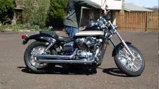 10. Cold start with my 2006 Honda Shadow Spirit VT750DC (cold day)