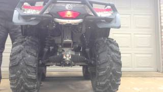 3. Can-Am Outlander 800R XT HMF Exhaust Comparison