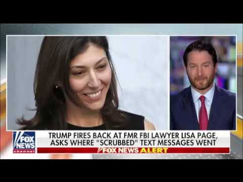 120219 - FOX re President Trump responds to Lisa Page interview asks where scrubbed text messages we