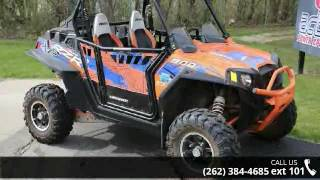 1. 2013 Polaris RZR XP 900 EPS Orange Madness and Blue LE  -...
