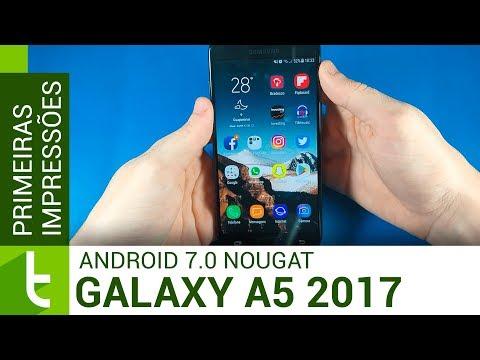 Hands-on do Android 7.0 Nougat no Galaxy A5 2017  TudoCelular.com