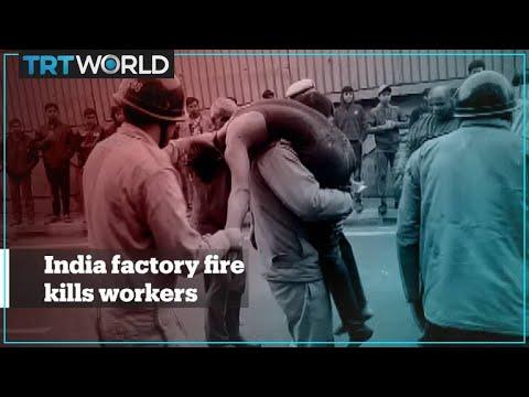 Video - Πυρκαγιά σε εργοστάσιο - Δεκάδες νεκροί
