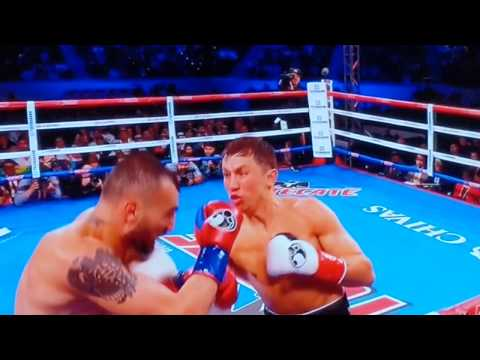 GGG knockout 10 punch combo highlight (slow motion replay) (видео)